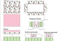 Комплекты в кроватку / Комплект в кроватку для новорожденных ( 6 предметов) цена : 2500 руб. доставка по всей России
