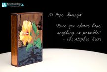 Houston Llew Spiritiles / Created by Houston Llew, every Spiritile is handcrafted in Atlanta, Georgia from American made copper, glass and wood. They make the perfect gift for life's special moments and can be enjoyed anywhere, even in sunny or humid places where other treasures may wilt. Spiritiles can be easily wall mounted or kept free standing and are even happier when grouped together.