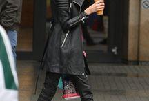 Black jaket leather style