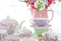 High tea flowers