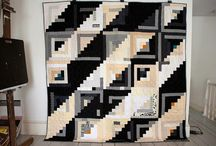 log cabin quilts / tkanina artystyczna