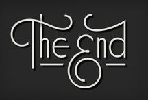 The End Cards - lettering & type