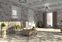 Foyer / Foyer images created with DomuS3D, the leading software for interior design using real ceramic tiles, covering materials and sanitary ware coming from the most important Manufacturers in the world