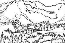 Colouring pages for pre-school