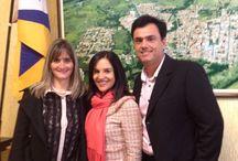 Primeira dama do Estado Lu Alckmin, Primeira dama de Angatuba Fernanda Gomes e Prefeito de Angatuba Calá