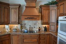 Granite Countertops & Wine Rack / A Beautiful Remodeled Kitchen: Custom Kitchen Cabinets, Custom Island, Etc.