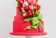 tulipán torta