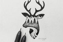 Illustrations pointillés