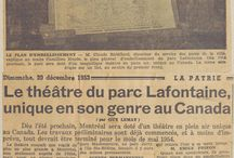 Théâtre du parc La Fontaine / Photos et coupures de presse reliés au théâtre du parc La Fontaine.