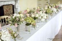 Dusky pink flowers for summer wedding at The Botanics