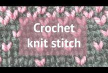 Crochet stitches / Free tutorials for beautiful crochet stitches❤️