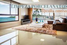 Limpeza porcelanatos! Receita caseira! / Veja + Inspirações e Dicas de decoração no blog!  www.construindominhacasaclean.com