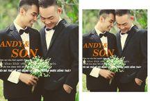 Ảnh cưới đẹp của cặp đôi Andy & Son