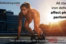 Iron and sports / Having enough iron is important for yo to perform at your best. Iron deficiency may compromise the production of energy and  reduces the amount of oxygen your body gets when you are exercising, reducing the amount of exercise you can do.