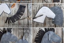 Felt Stick Horse Tutorial