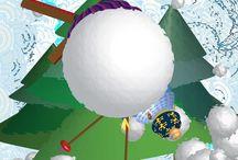 La glisse / Illustrations et animation sur thème de: glisse neige ski