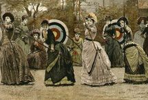 Woman at arms / archery