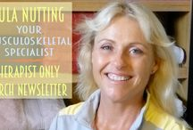 Newsletters / Therapists Only and YMS client Newsletters