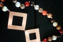 creaciones 2015 / Collar cobre y agatas facetadas