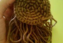 Amigurumi - cabelos das bonecas