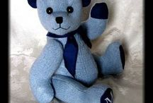 Teddy Bears made from clothes / Create stuffed animals from shirts