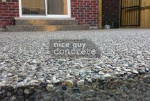 Exposed Aggregate / Exposed Aggregate by Nice Guy Concrete