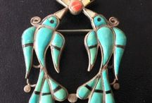 Native Americans  brooches, pendants