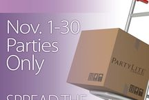 November at PartyLite / November is a fantastic time for fragrance lovers! Whether you Host a Party or attend as a Guest, PartyLite has amazing autumn, winter and gift-giving offers designed to help make your holiday shopping season merry and bright! / by PartyLite
