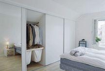 Garderober och sovrum