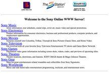 Le Design du site web de Sony.com Depuis son premier