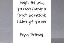 Birthday card funny