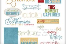 Word Art / Quotes, snippets, and phrased for your digital scrapbook projects