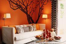 Orange Themed Living Rooms