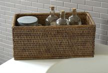 Wicker Baskets / Our beautiful wicker basket range, multi purpose & hand made.