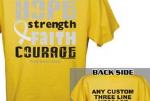 Brain Cancer Awareness Items / by MyWalkGear