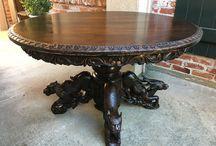 Antique French Renaissance & Black Forest Furniture