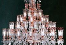 crystal chandelier : Czech glass / Křišťálové lustry vyrobené v Čechách