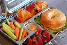 Breakfast, Lunch & Bentos / no, i dont actually sculpt my kids sandwiches into shapes. but i do love bento boxes, waste free lunch options. and new ideas for lunch / by Carson
