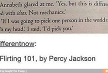 """PJO/HOO/TOA / """"Look, I didn't want to be a demigod"""". -Percy Jackson, Chapter 1"""