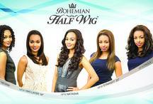 Bohemian Half Wigs / Pure Natural Half Wigs