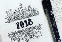 bullet journal and drawing