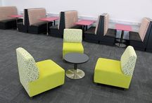 Library Furniture - Joseph Banks College / Joseph Banks College wanted booth seating and casual seating, we also created a great magazine reading zone.