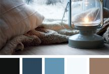 Color palettes / Color palettes for home decoration and web design.