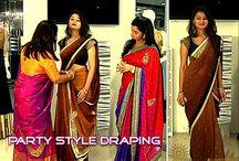 Saree draping videos & illustrations