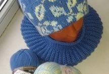 Шапки и шарфы спицами