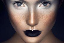 white skin make-up, fryzury, kolory włosów