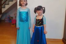 Anna and Elsa Princesses from Frozen / DIY princess dress Frozen