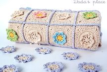 Crochet blanket and pillow