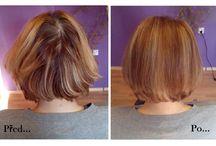 Hair before and after... / před a po... / Vlasové proměny - barva, střih, foukaná...