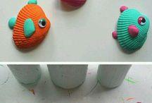 Kreativ muslinger & sten